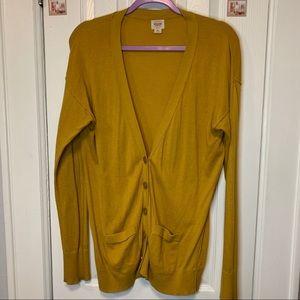 Mossimo Mustard Cardigan Size XL